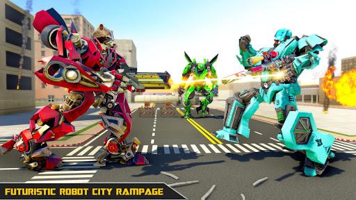 Raccoon Robot Hero Game: Flying Bike Robot Games  Screenshots 5