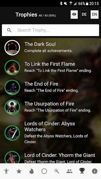 Checklist for Dark Souls 3