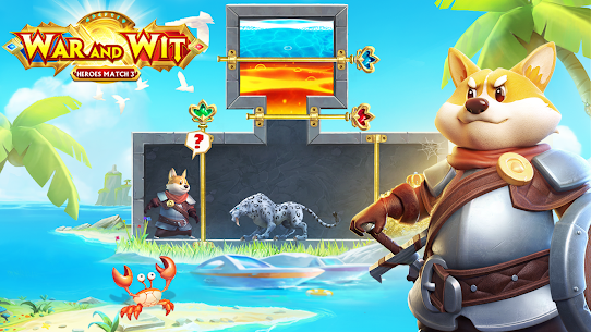 War and Wit Mod Apk: Heroes Match 3 (Unlimited Skills) 1