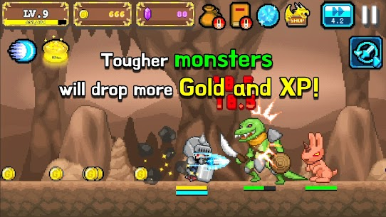 Tap Knight : Dragon's Attack Mod Apk 1.0.17 (Free Upgrade For Equipment) 6