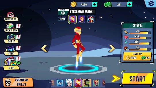 Stickman Heroes Fight – Super Stick Warriors Mod Apk (No Skills/Ultimate) 6