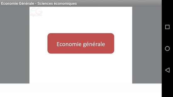 Economie Générale - Sciences économiques (Cours)