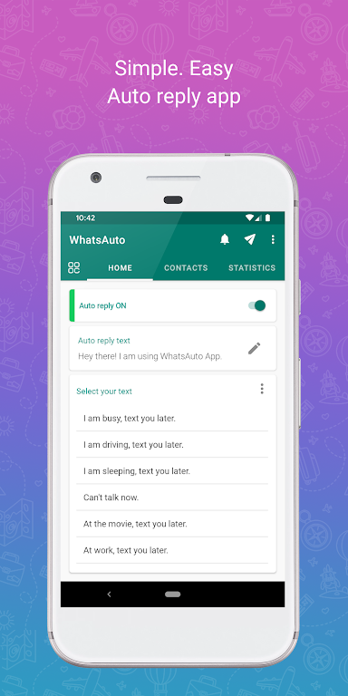 WhatsAuto - Reply App  poster 0