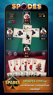 Spades - Offline Free Card Games screenshots 1