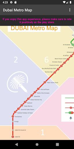 dubai metro map screenshot 1