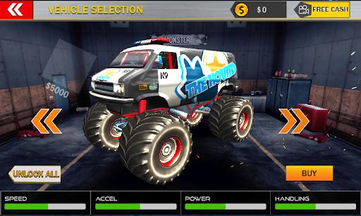 Monster Mega Truck Jump 3D Race Simulator apklade screenshots 2