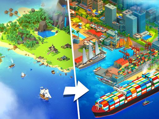 Sea Port: Cargo Ship & Town Build Tycoon Strategy 1.0.153 screenshots 1