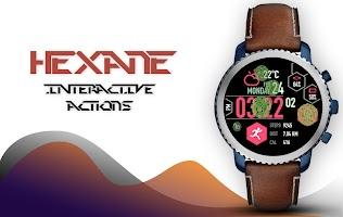 Hexane Watch Face and Clock Live Wallpaper