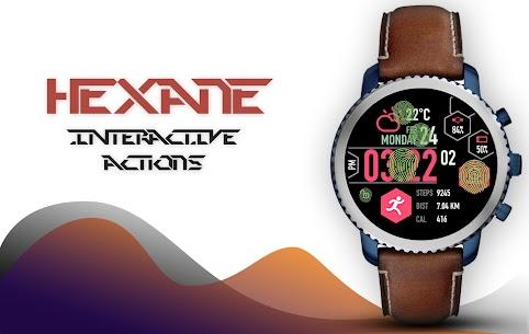 Hexane Watch Face and Clock Live Wallpaper 3