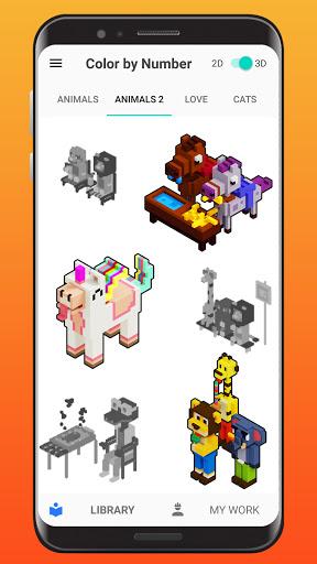 Color By Number - Unicorns Pixel Art apkdebit screenshots 4