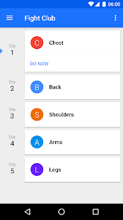 Progression Workout Tracker Screenshot