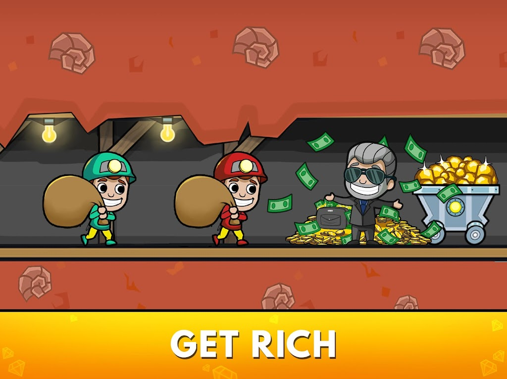 Idle Miner Tycoon: Gold & Cash Game MOD poster 17