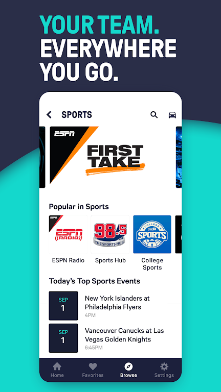 TuneIn Pro: Live Sports, News, Music & Podcasts  poster 4