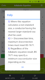 Adiabatic Equation Calculator Screenshot