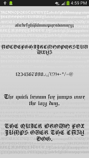 gothic fonts for flipfont screenshot 2