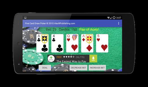 Five Card Draw Poker 1.20 screenshots 4