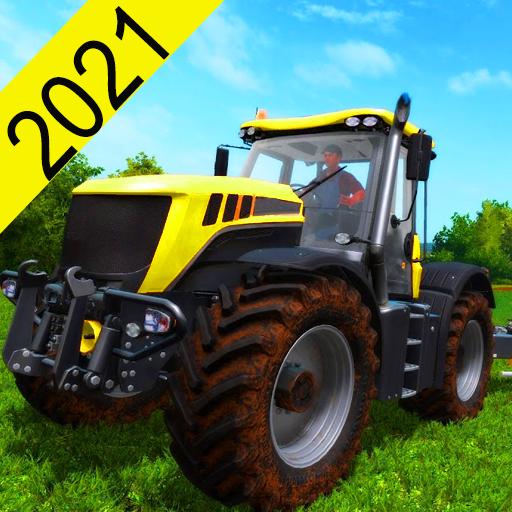 Tractor Trolley Simulator Farming- Cargo Games 3d