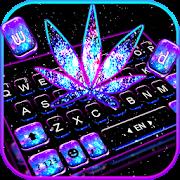 Shiny Galaxy Weed Keyboard Theme