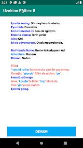 Uzaktan Eğitim  8. Sınıf İngilizce Apk 5