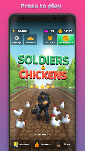 Soldiers and Chickens  screenshots 3