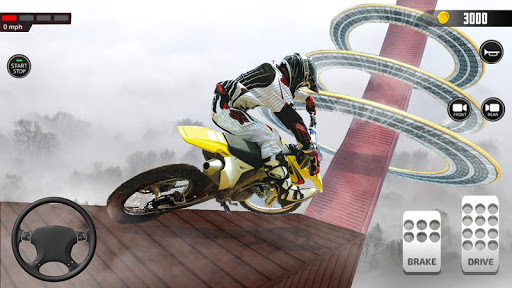Impossible Mega Ramp Moto Bike Rider Stunts Racing modavailable screenshots 9