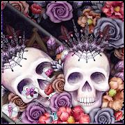 Colorful Flower Skull Fancy Theme