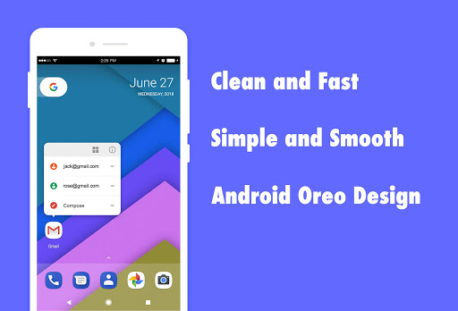 DC Launcher - Android Oreo Style, Fast & Simple 1.0.16 Screenshots 1