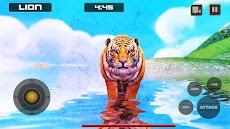 ライオン対トラ野生動物シミュレータゲームのおすすめ画像4