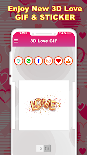 3D Love GIF : Love Stickers For Whatsapp Screenshot