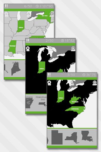 Enjoy Learning U.S. Map Puzzle apklade screenshots 2