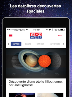 Sciences et Avenir Screenshot