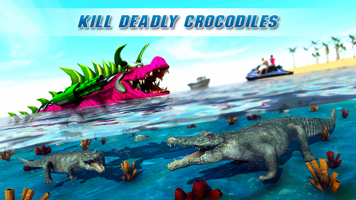 Real Robot Crocodile Simulator- Robot transform 1.0.12 screenshots 9