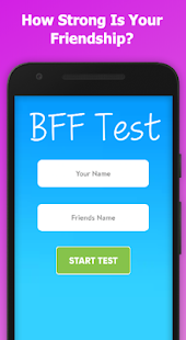 BFF Friendship Test Screenshot