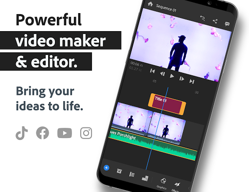 Adobe Premiere Rush — Video Editor screen 0