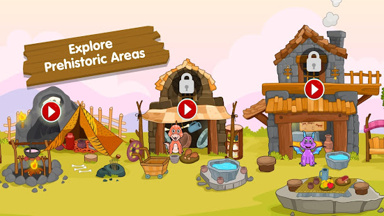 My Dinosaur Town - Jurassic Caveman Games for Kids 3.3 Screenshots 10