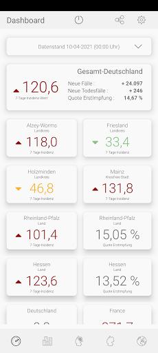 Infekt-Info Fallzahlen Inzidenz Impfungen im Blick modavailable screenshots 6