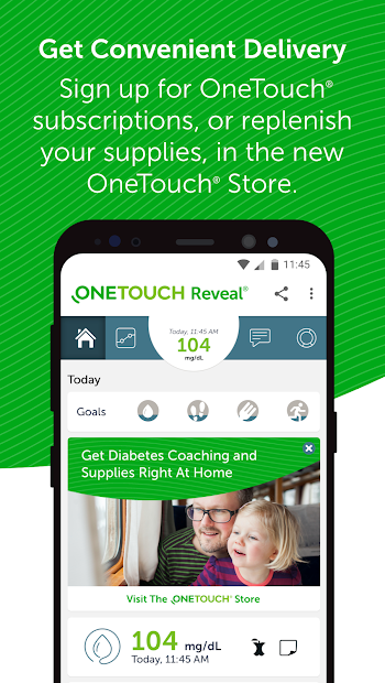 OneTouch Reveal® mobile app for Diabetes Android App Screenshot