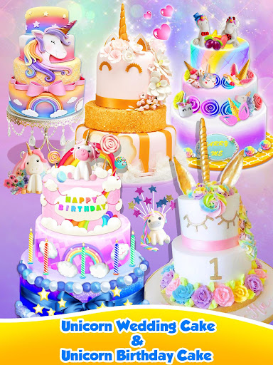Unicorn Food - Sweet Rainbow Cake Desserts Bakery 3.1 screenshots 18