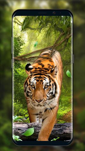 moving tiger live wallpaper screenshot 2