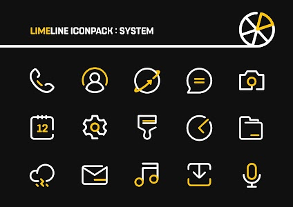 LimeLine Icon Pack : LineX 3.1 (Patched)