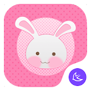 Pink Girl-APUS Launcher theme