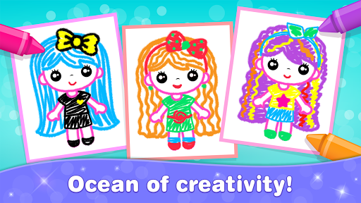 Kids Drawing Games for Girls! Apps for Toddlers!  screenshots 5