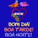 Bom dia Boa tarde e Boa noite Amor Mensagens Vídeo