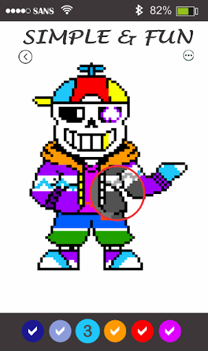 Sans Pixel Art - Paint By Number android2mod screenshots 4
