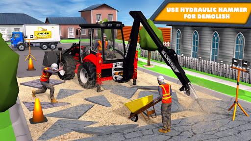 JCB Excavator Crane 2021: 3D City Construction screenshots 1