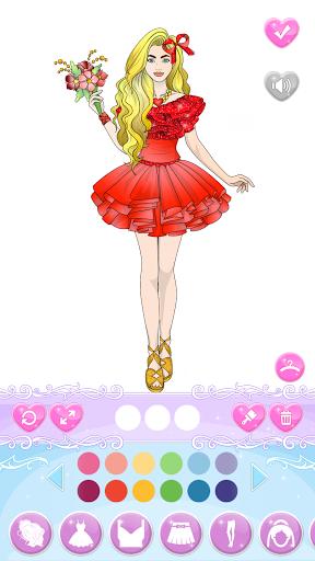 Wedding Coloring Dress Up - Games for Girls  screenshots 8