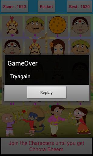 chhota bheem 2048 game screenshot 2