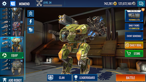 Mech Wars: Multiplayer Robots Battle modavailable screenshots 17