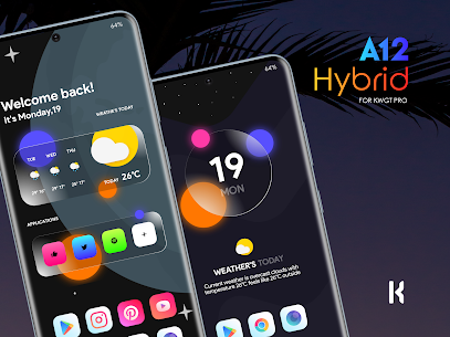 A12 Hybrid for KWGT (MOD APK, Paid/Patched) v1.2 4