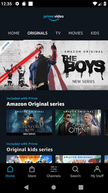 Amazon Prime Video Android App Screenshot